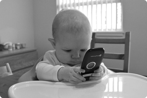 cell phone baby