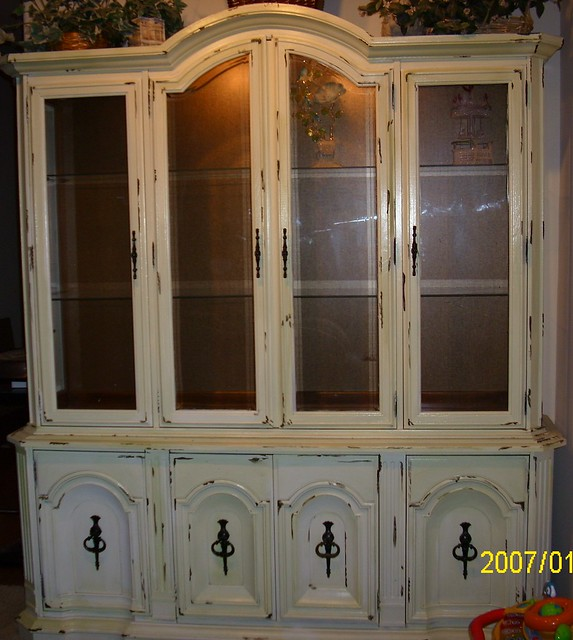 china kitchen cabinets shabby chic style painted china hutch cabinet large 2176