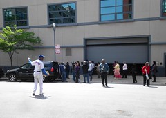 Ronnie Woo Woo outside last Oprah Winfrey Show taping