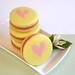 Raspberry Lemonade Macarons-Hearts by kellbakes for CraftyBaking.com