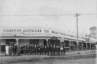 Staff outside department store (Emry's) - Deniliquin, NSW, 19 June 1923