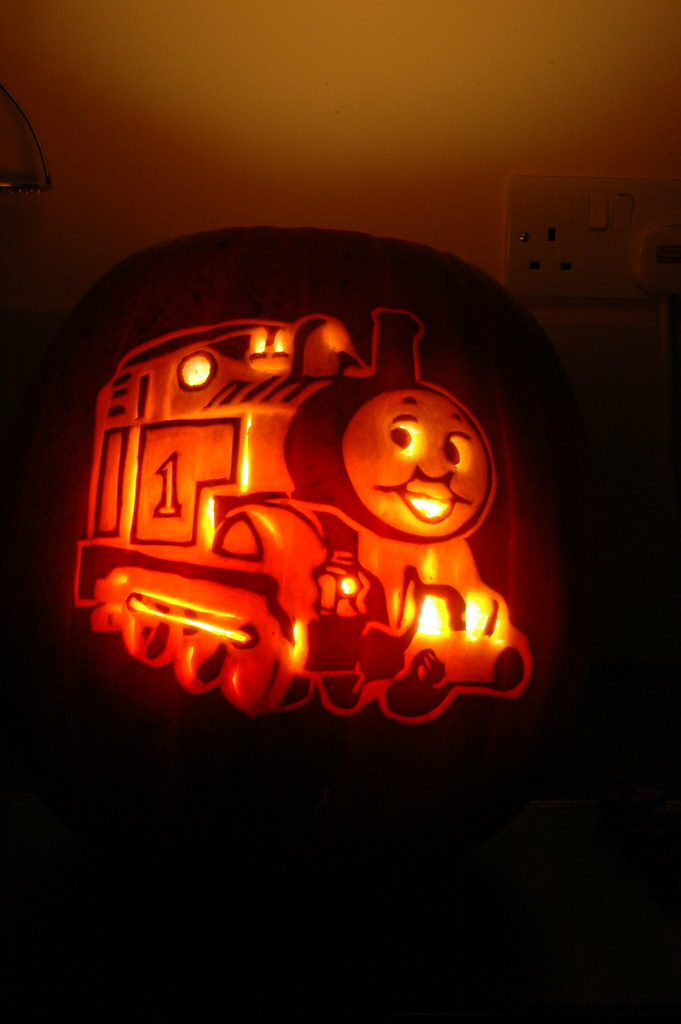 Thomas the tank engine a photo on flickriver for Thomas pumpkin template
