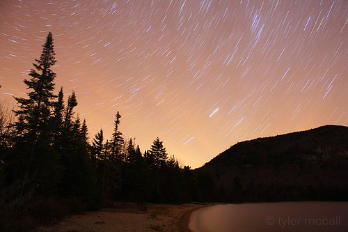 longexposure trees silhouette night stars adirondacks startrails canonrebelxs canonefs1855mmf3556is canoneos1000d tylermccall tirrelpond