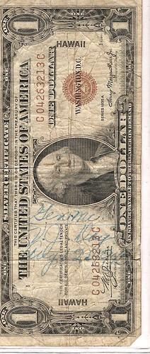 1935 1 dollar silver certificate