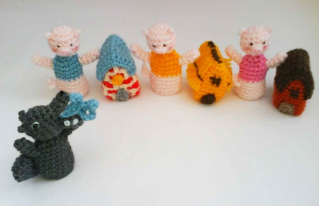 Flickriver: Photoset Three Little Pigs Fairy Tale Finger ...