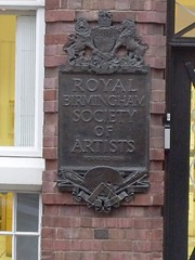 Photo of Royal Birmingham Society of Artists bronze plaque