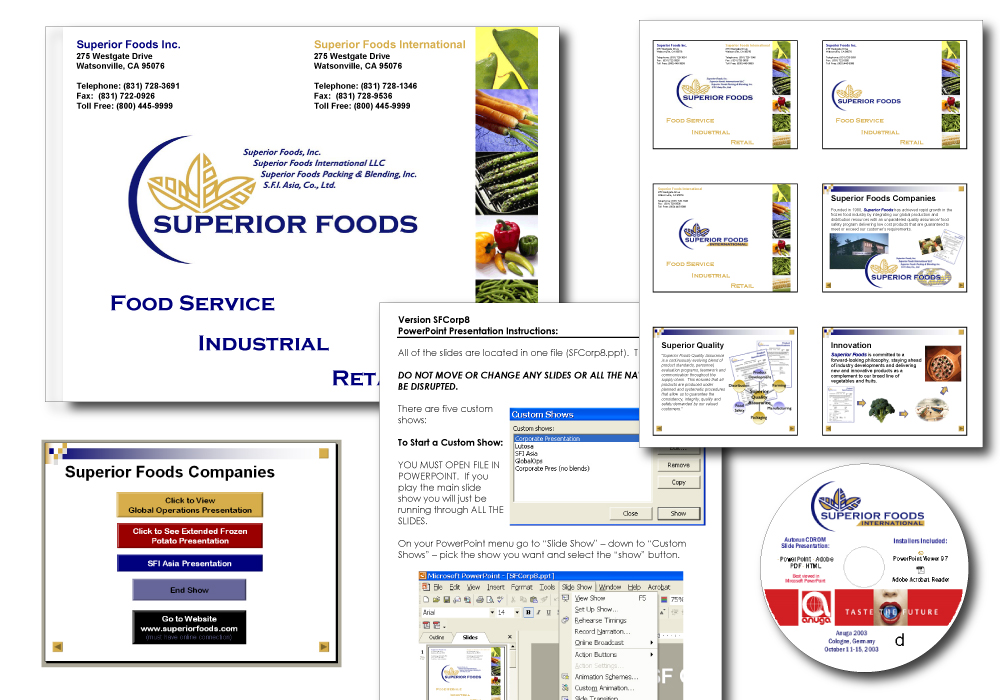 Superior Foods Sales Presentation CD