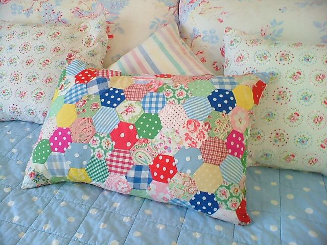 patchwork cushion, Fujifilm FinePix A605