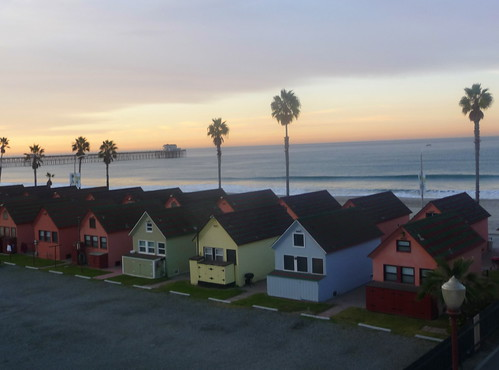 Winter Sunrise, Oceanside CA: Roberts Cottages
