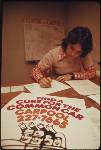 Retained a Car Pool Office in May, 1974, Even after the Gas Shortage Was Virtually Over. The Phone Number for the Agency Spells C A R P O O L 05/1974