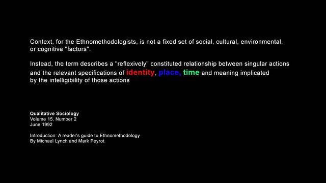 Ethnomethodology sociology definition