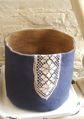 Saturday project... A reversible bucket for our Etsy shop PetitsEncants