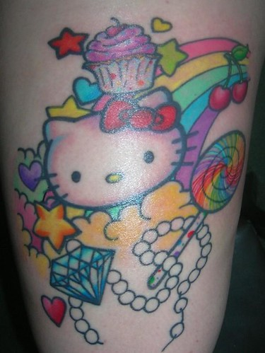 Hello Kitty Tattoo by Autumn Tierney