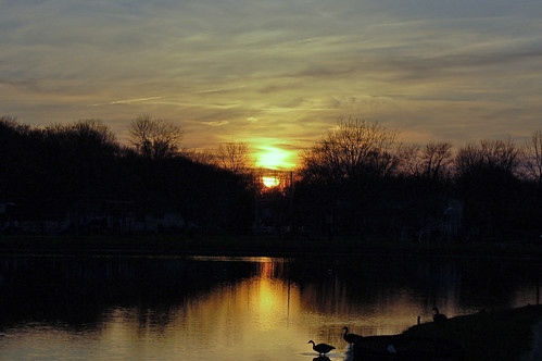 sunset lake newjersey dusk