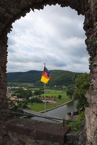 water river germany view flag scene pfalz saarburg