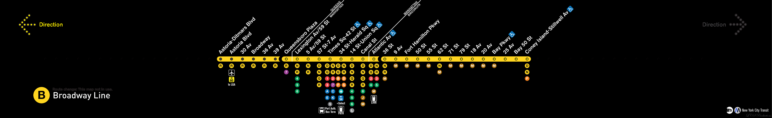 R Strip Maps Version  Art And Graphic Design NYC - Nyc subway map j train