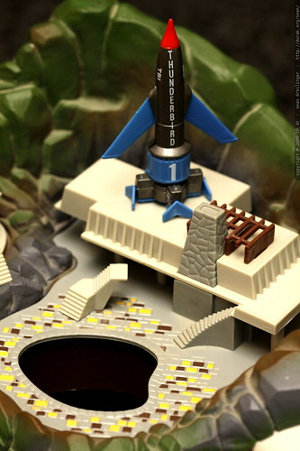 swimming pool rocket silo for thunderbird one   matchbox tracy island electronic playset