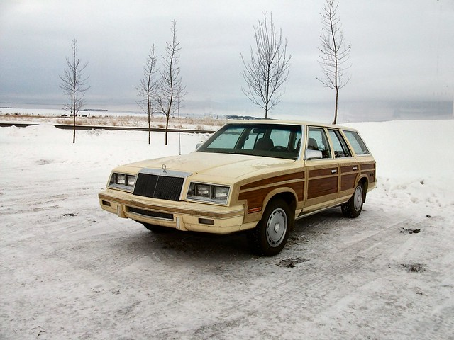 dodge k station wagon with fake wood paneling