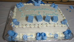 cake, buttercream, baked goods, baby shower, sugar paste, food, cake decorating, icing, dessert, pasteles, cuisine,