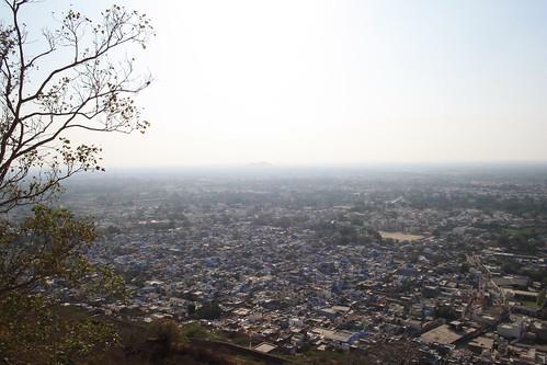 urban india aerial rajasthan chittorgarh