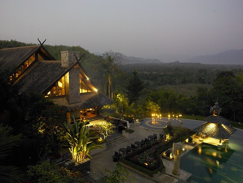 A warm light in the hills at Anantara Golden Triangle