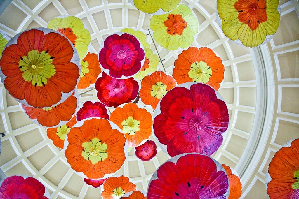 Flower Parasols @ the Bellagio
