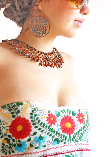 Mexican embroidered dress corset style flickr photo