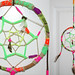 large neon dream catcher
