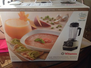 I can't believe they bought me a Vitamix!