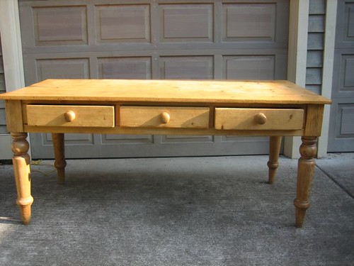 SOLD Antique English Pine Table - $450