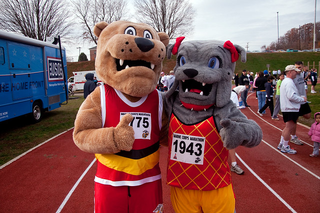 The Official Marine Corps Marathon Mascots | Flickr ...
