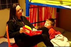bedtime story   nodding off on grandma's knee    MG …