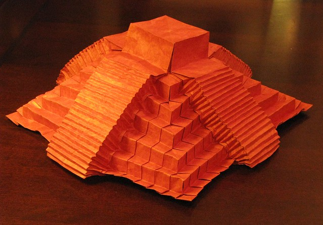 chichen itza pyramid designed and folded by jeremy shafer