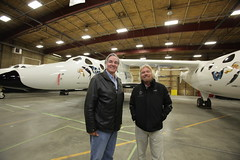 Burt Rutan and Richard. Credit Mark Greenberg