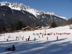 Chamonix skiiers