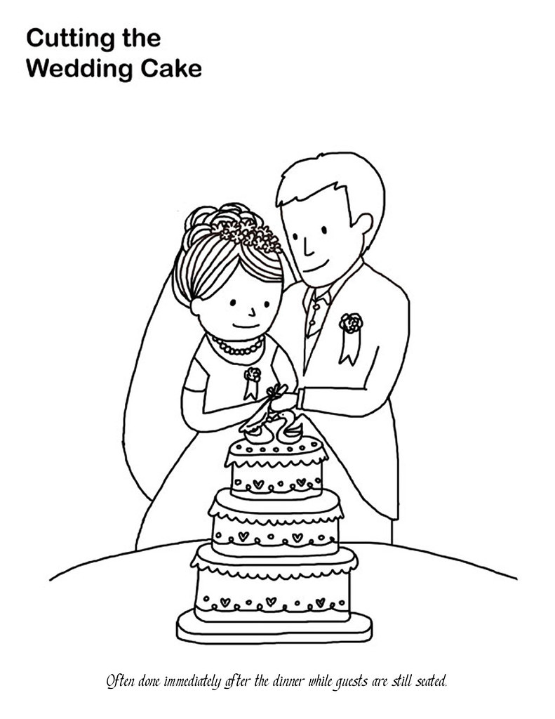 wedding cake coloring page a photo on flickriver