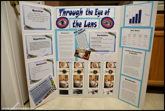 finished science fair projects This is an example of a completed display board at invention and science night, you will also have your research notebook and written report in front of the board you may also want to include some of the items you used in your experiment, to add interest.