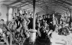Wounded Australian soldiers in a military hospital in France, ca. 1916
