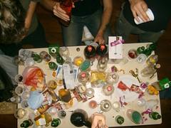 la table du catering finit toujours comme ça