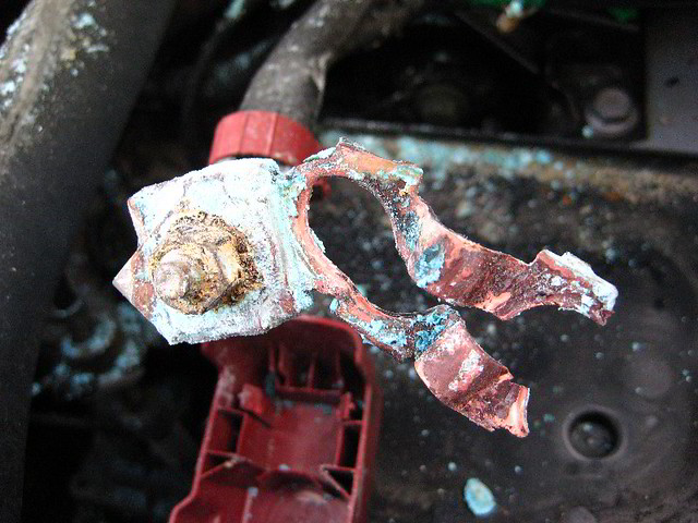 Michaels Toyota Service >> Corroded Car Battery Terminal - 2005 Toyota Corolla S | Flickr - Photo Sharing!