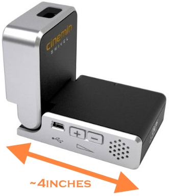 Tiny portable projector for your iphone ipod digital for Ipod projector