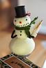 Silver Bella 2009 Snowman Ornament Clip by Alanna George