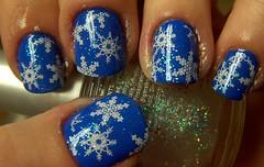SH Pacific Blue + snowflake konad