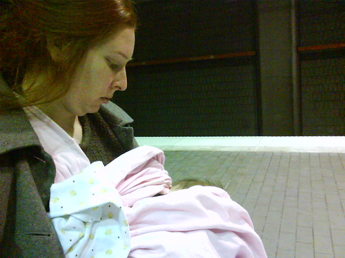 Nursing in a MARTA station