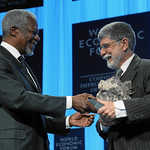 Celso Amorim and Kofi Annan - World Economic Forum Annual Meeting Davos 2010