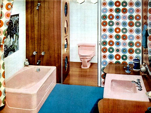 mid century living bathrooms 1960 65