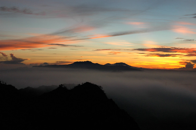 Dawn at the Bromo caldera
