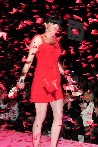 Pauley Perrette in Rebecca Taylor at The Heart Truth's Red Dress Collection 2010