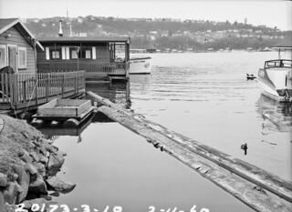 Houseboats near Lynn Street, 1960