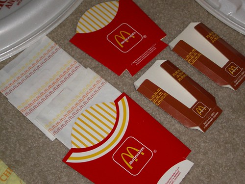 80's McDonald's Fry Bags/Boxes & Hash Brown Boxes